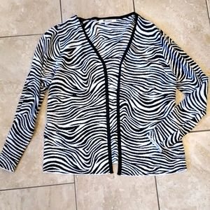 3/$12 Zebra print cardigan and tank top set